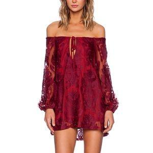 For Love & Lemons Sangria Dress in Red